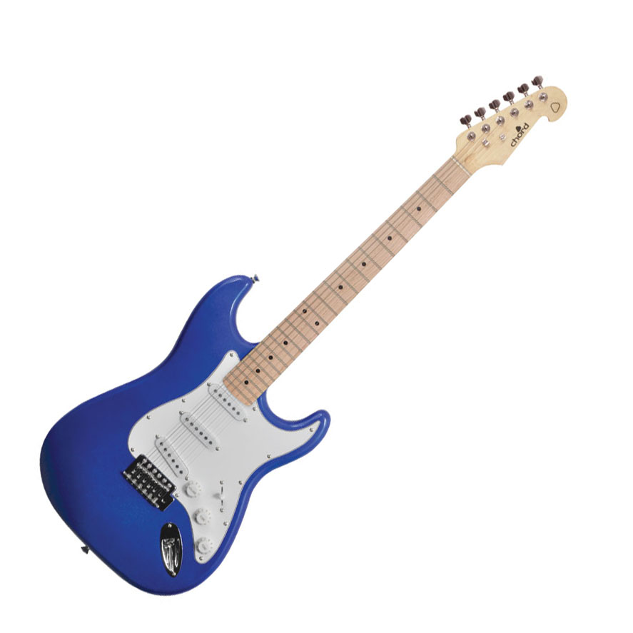 chord cal63 electric guitar metallic blue music box the musical instrument store. Black Bedroom Furniture Sets. Home Design Ideas