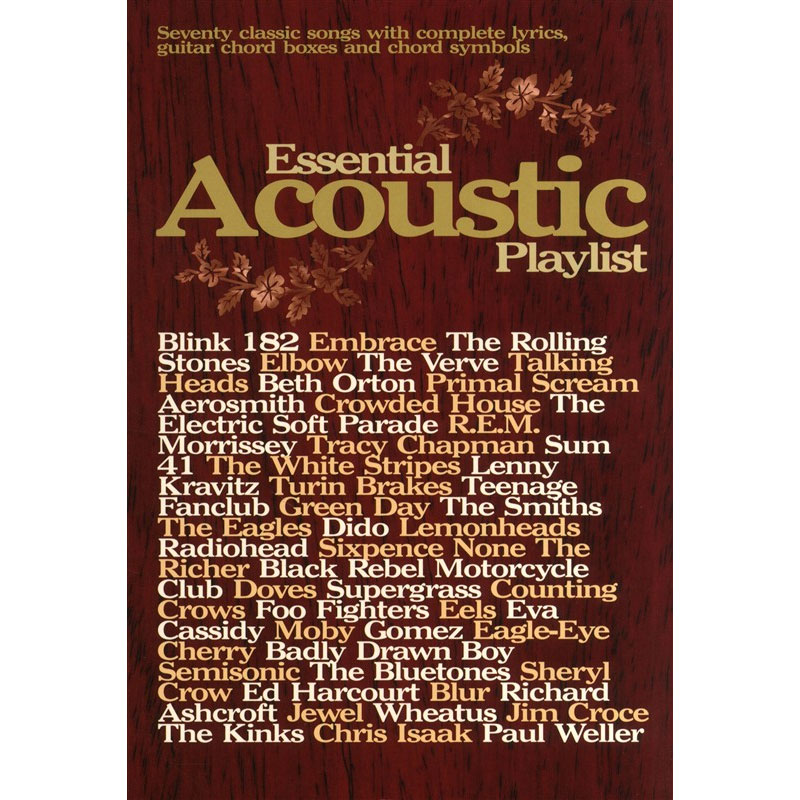 Essential Acoustic Playlist Guitar Vocals Music Box The