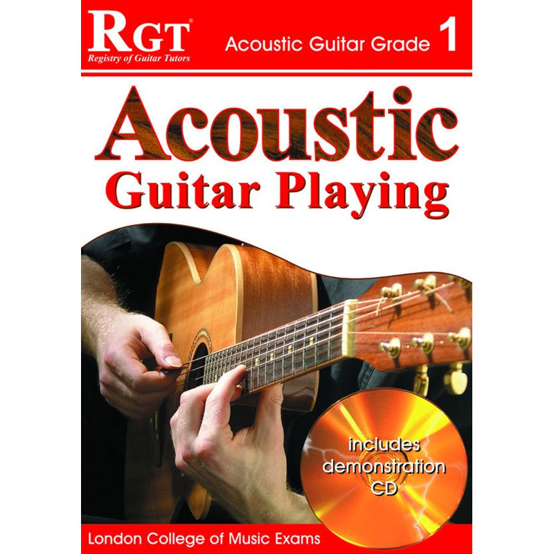 REGISTRY OF GUITAR TUTORS: ACOUSTIC GUITAR PLAYING - GRADE 1 (BOOK/CD)