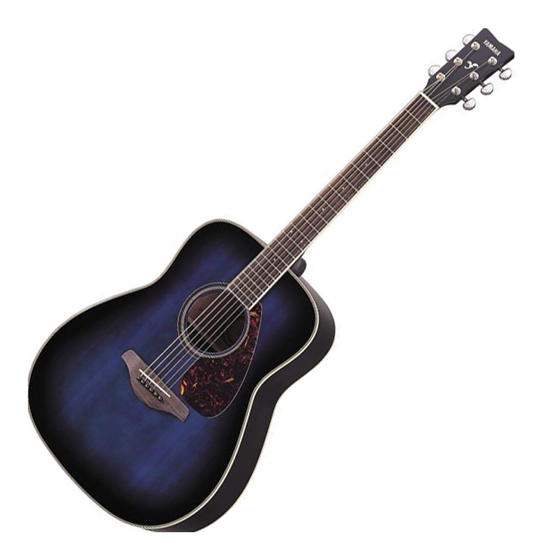 Blue Yamaha Acoustic Guitar