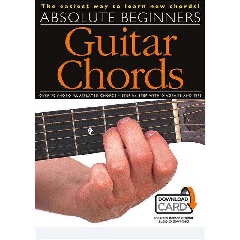 Absolute Beginners Guitar Chords Bookdownload Card Music Box