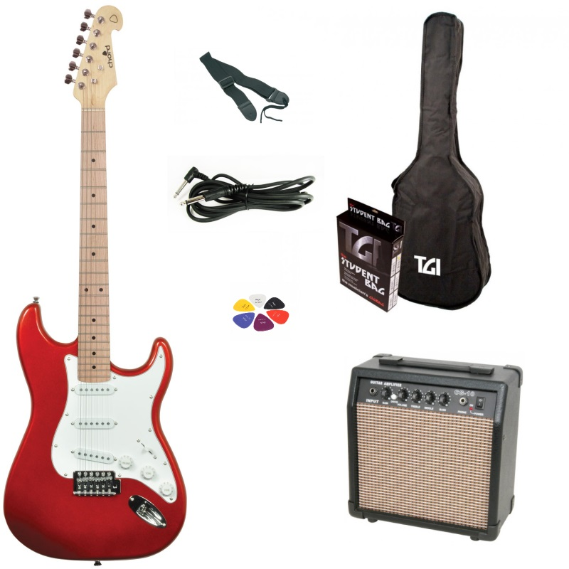 Chord Cal 63 Electric Guitar Package Red Blue Or Black
